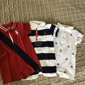 BUNDLE OF THREE POLO RALPH LAUREN ROMPERS